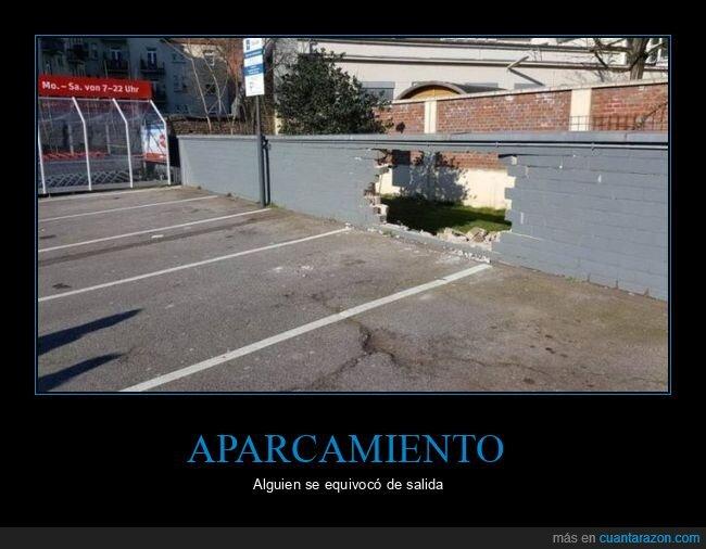 aparcamiento,fails,muro