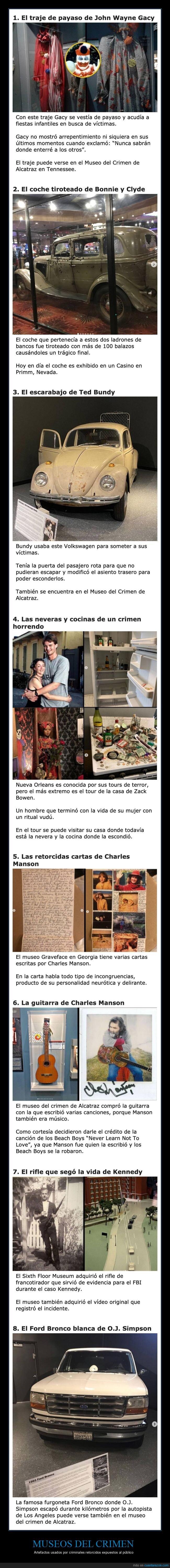 criminales,museos del crimen,objetos