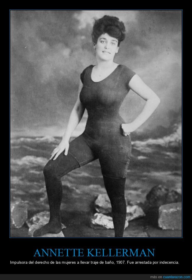 1907,annette kellerman,bañador,retro