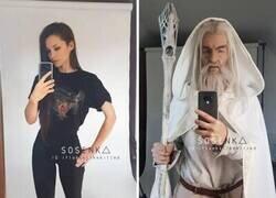 Enlace a Transformándose en Gandalf
