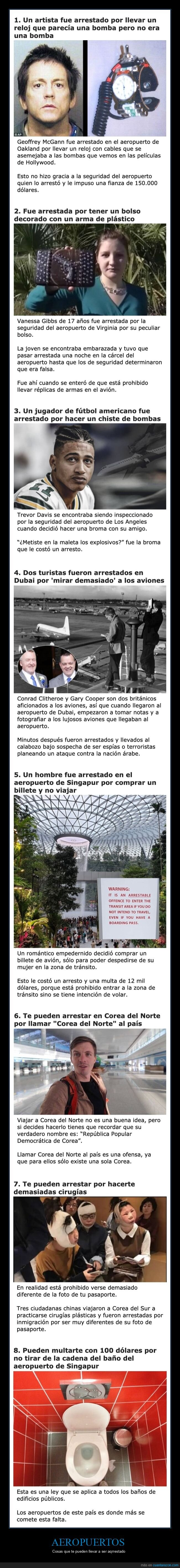 aeropuertos,arrestos