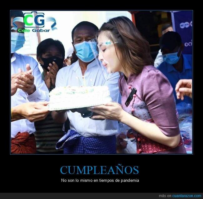 coronavirus,cumpleaños,fails,tarta,velas