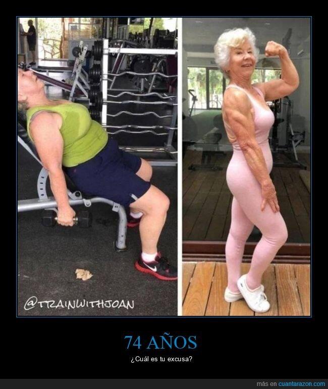 abuela,ejercicio,musculosa