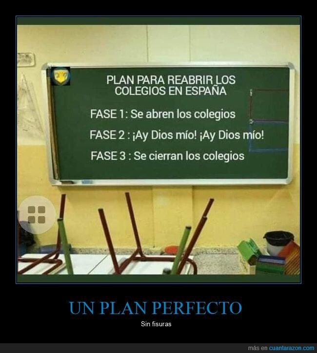 colegios,coronavirus,plan,reabrir