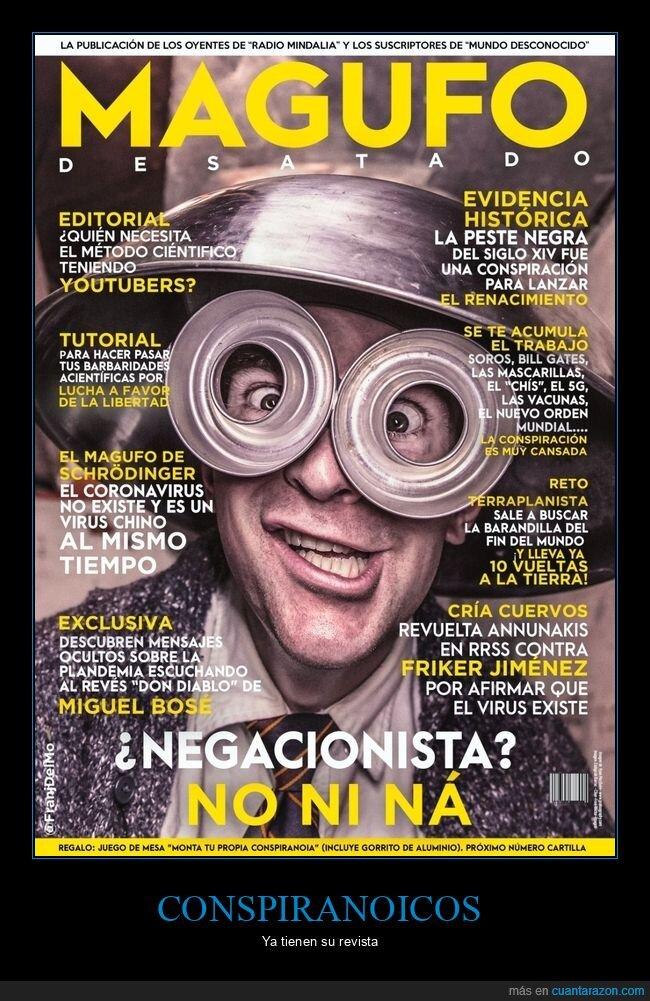 conspiranoicos,coronavirus,magufos,revista