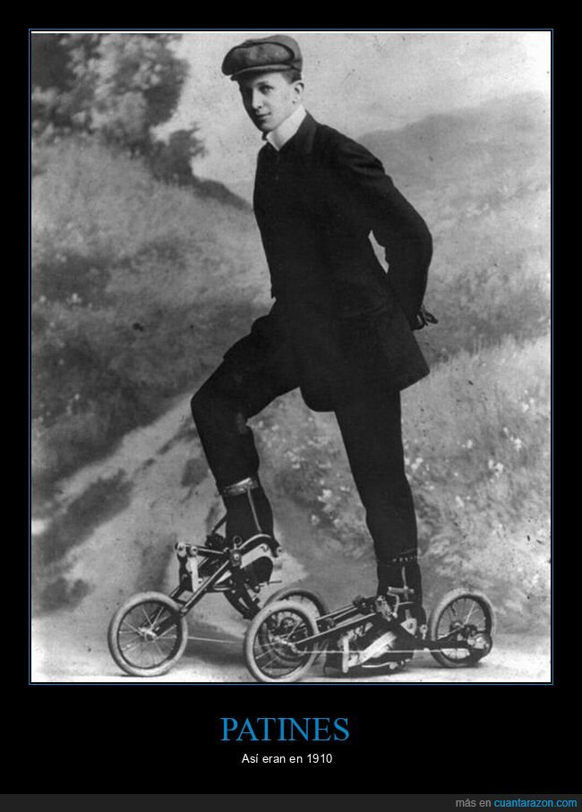 1910,curiosidades,patines,retro