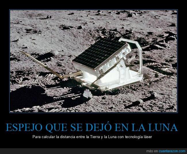 calcular,distancia,espejo,láser,luna