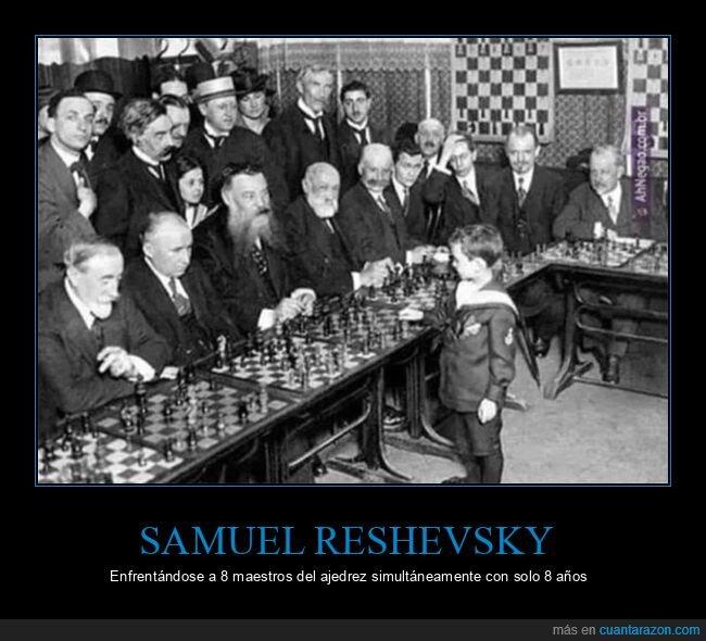 ajedrez,curiosidades,niños,samuel reshevsky