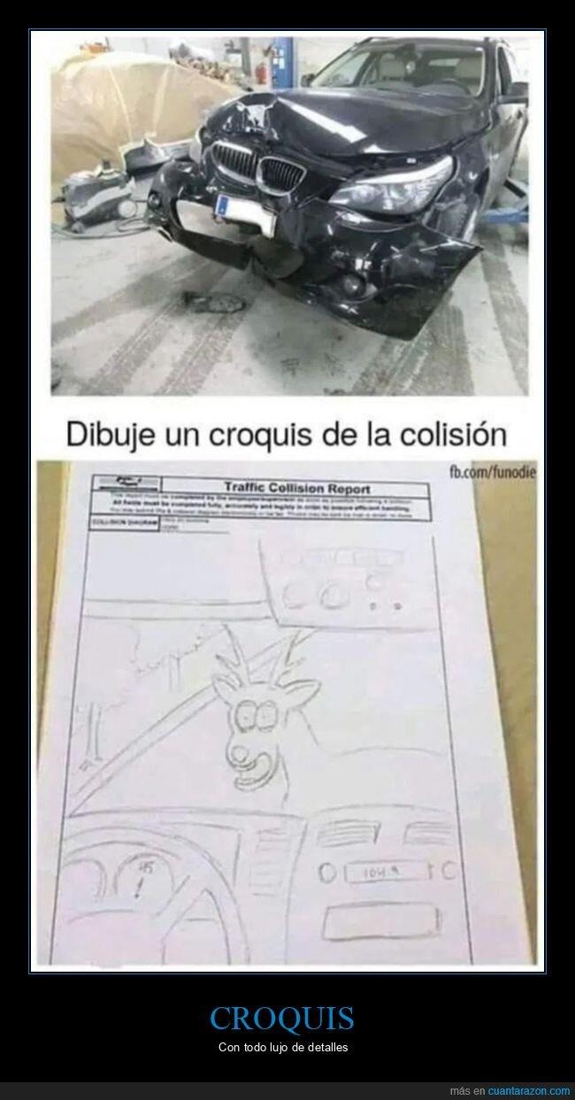 accidente,coches,croquis,dibujo