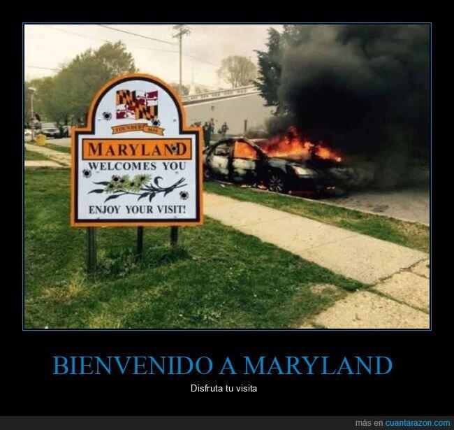 ardiendo,coche,maryland