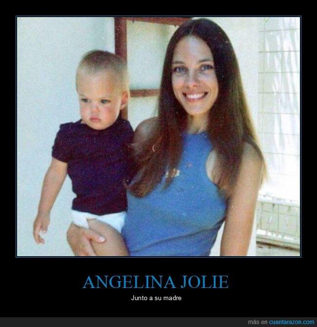 angelina jolie,bebé,madre