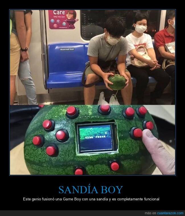 game boy,sandía,sandía boy,wtf