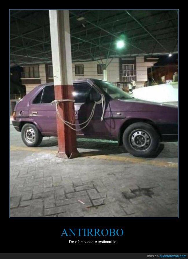 antirrobo,coche,cuerda,wtf