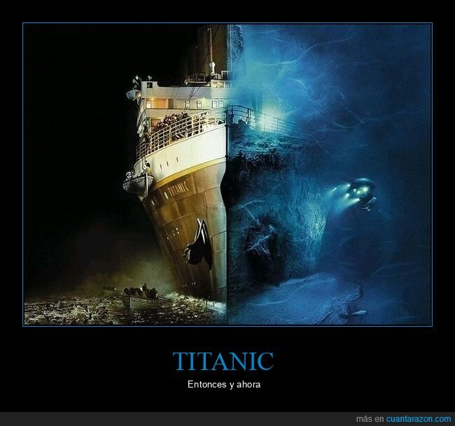 ahora,antes,titanic