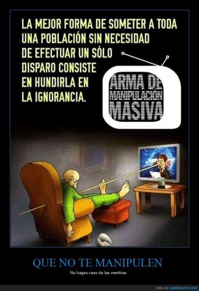 manipulación,televisión
