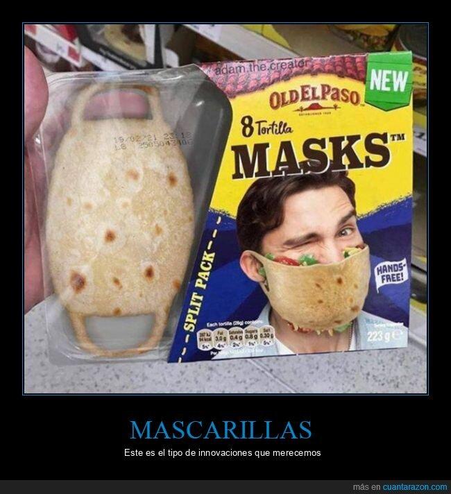 coronavirus,mascarilla,tacos