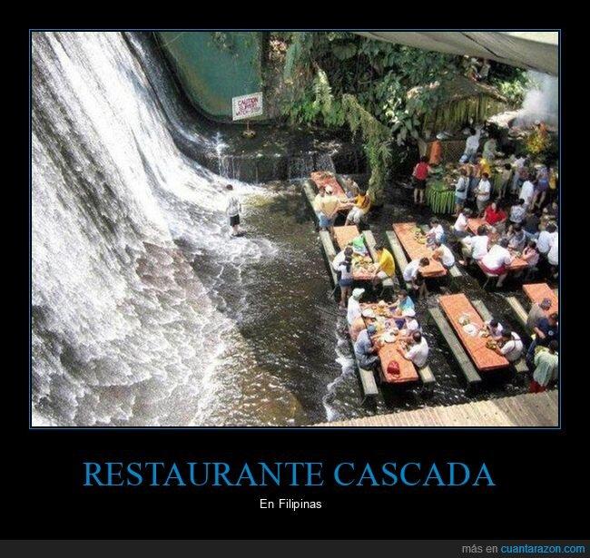cascada,filipinas,restaurante