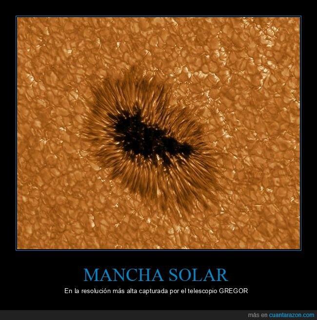 mancha solar,resolución,telescopio gregor