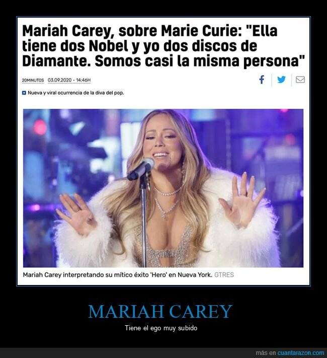 comparación,mariah carey,marie curie