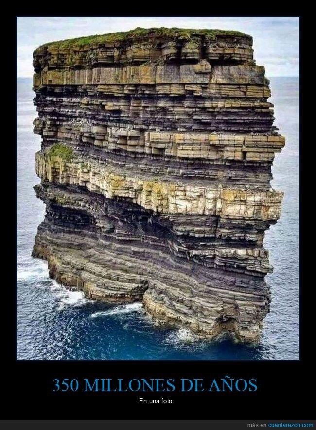 350 millones de años,estratos
