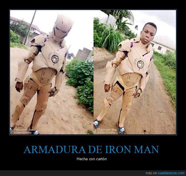 armadura,cartón,iron man