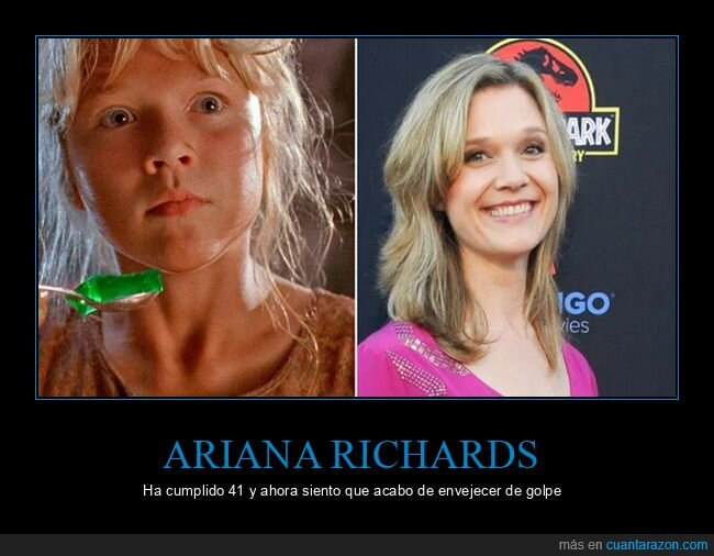 41 años,ariana richards,cine,edad,jurassic park