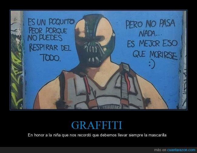 bane,coronavirus,graffitis,mascarilla,morirse,respirar