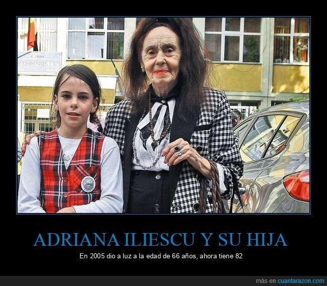 adriana iliescu,edad,hija