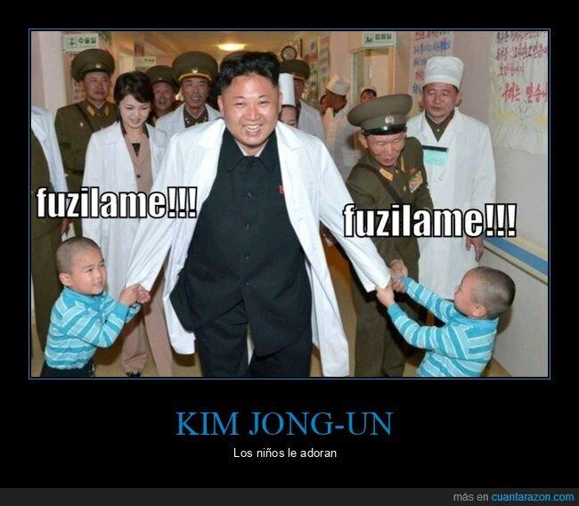 fusilar,kim jong un,niños
