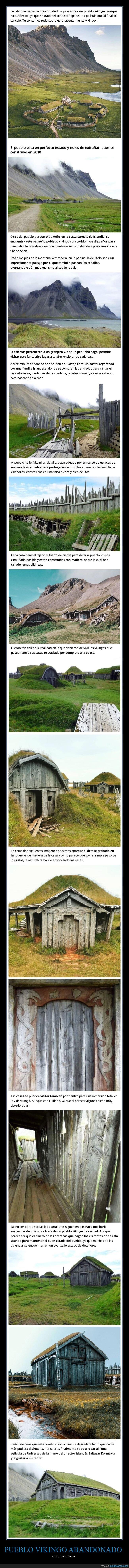 curiosidades,islandia,pueblo vikingo,set de rodaje