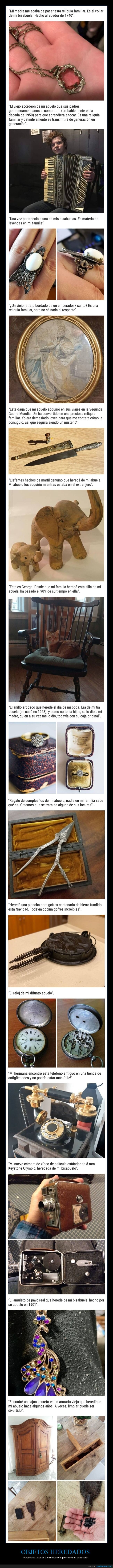 familia,herencias,objetos