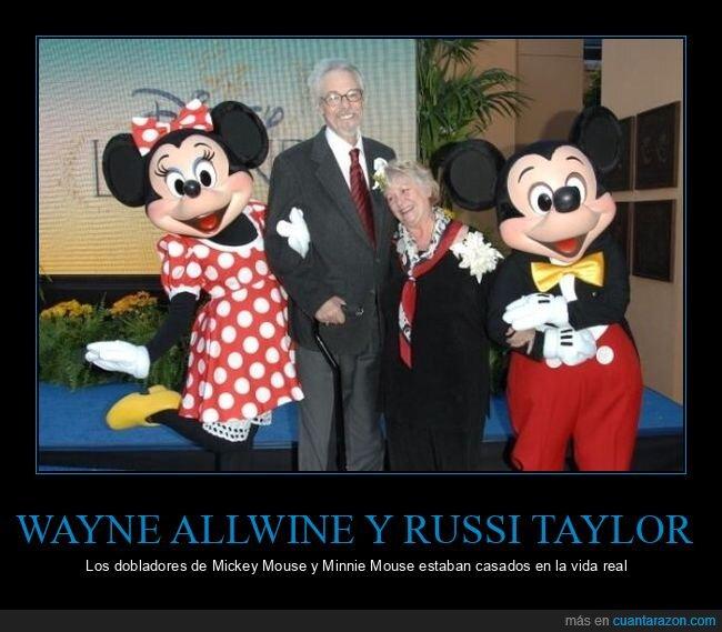 casados,dobladores,mickey mouse,minnie mouse,russi taylor,wayne allwine