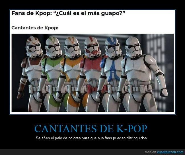 clones,iguales,k pop,star wars