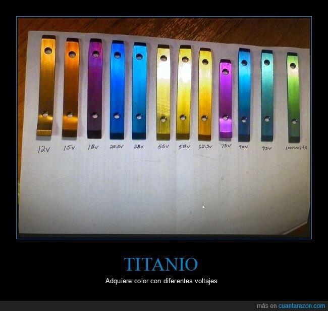 color,titanio,voltajes