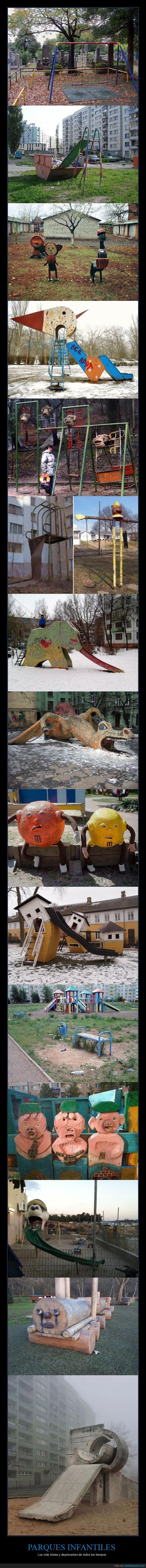 deprimentes,parques infantiles