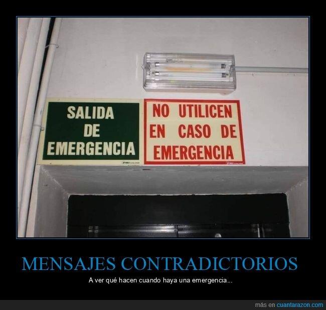 carteles,salida de emergencia,wtf