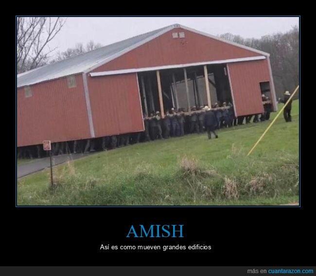 amish,edificios,mover