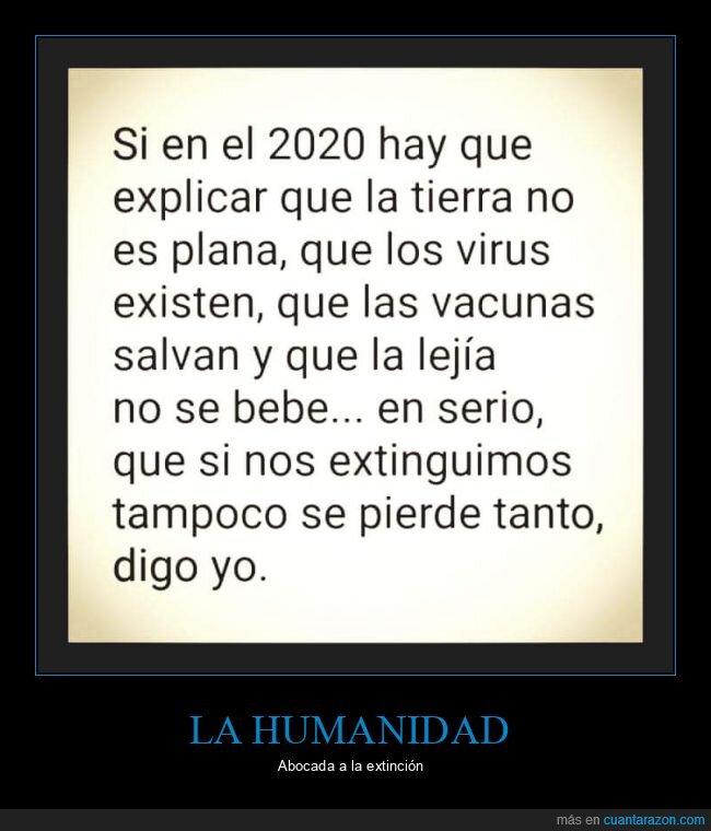 2020,lejía,terraplanismo,vacunas,virus