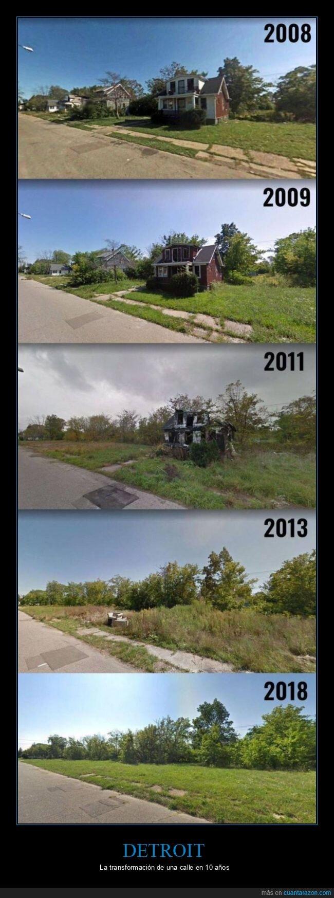 antes,calle,después,detroit