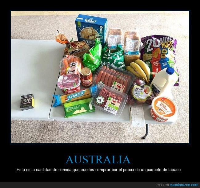 australia,comida,precio,tabaco