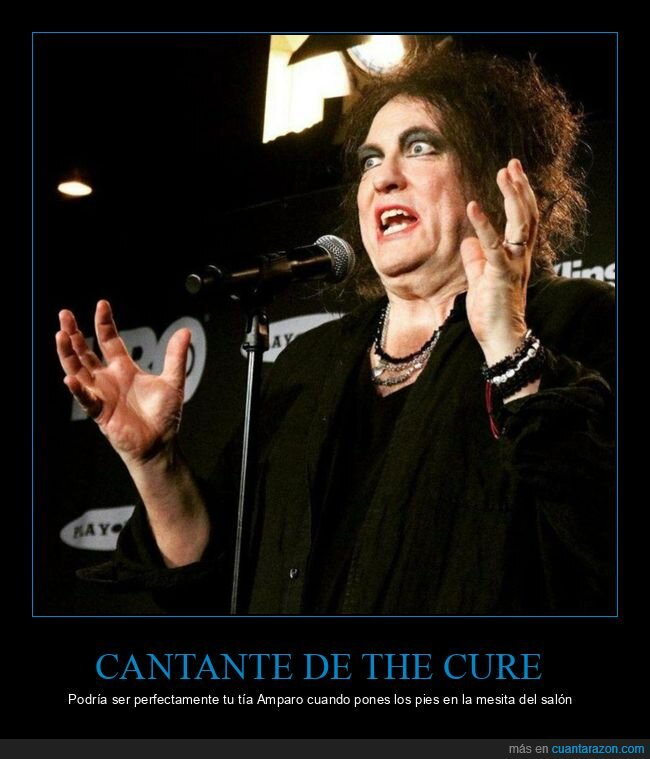 robert smith,the cure,tía amparo