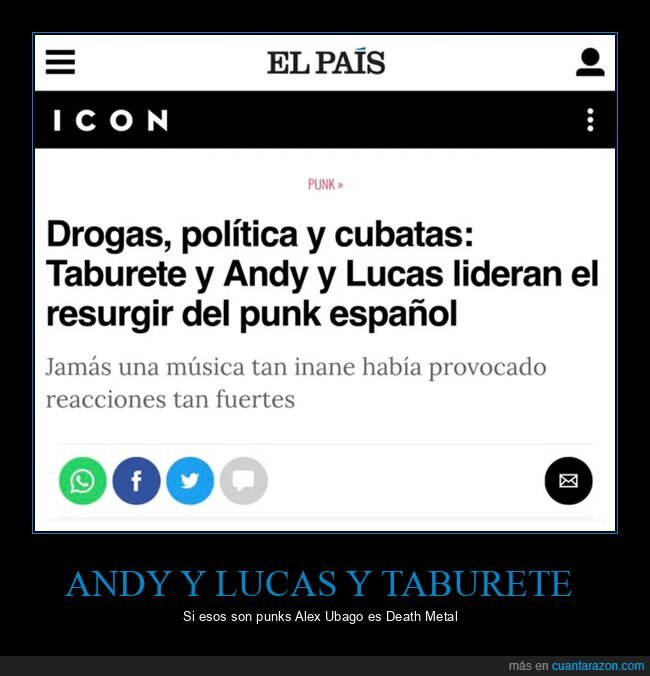 andy y lucas,punk,taburete,wtf