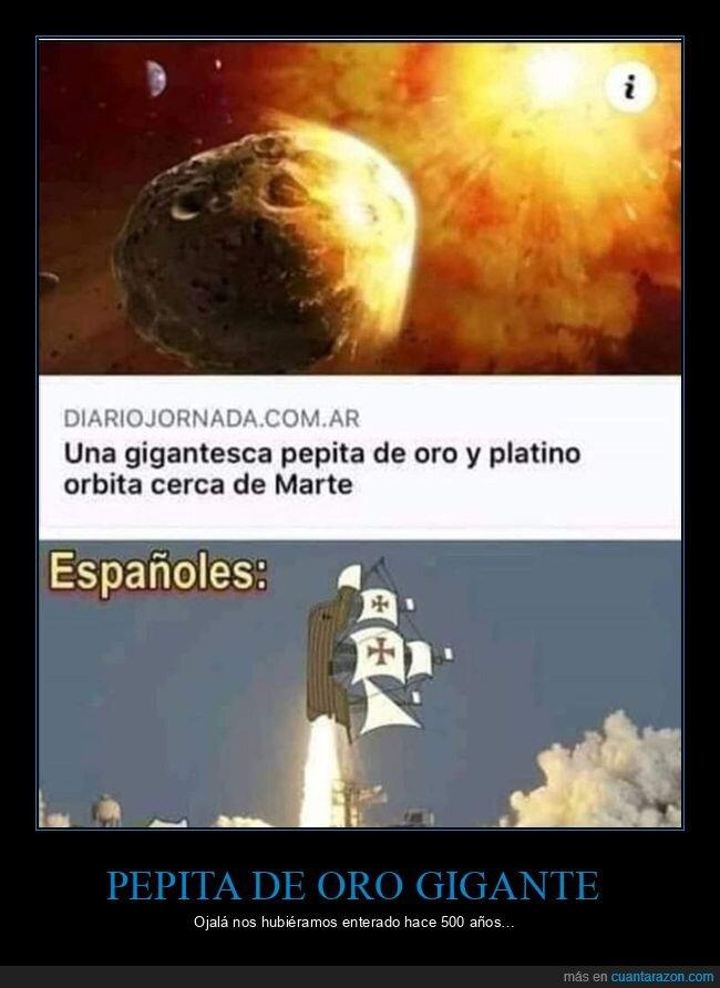 asteroide,españoles,pepita de oro