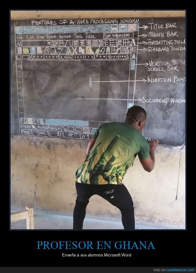 enseñando,ghana,profesor,word