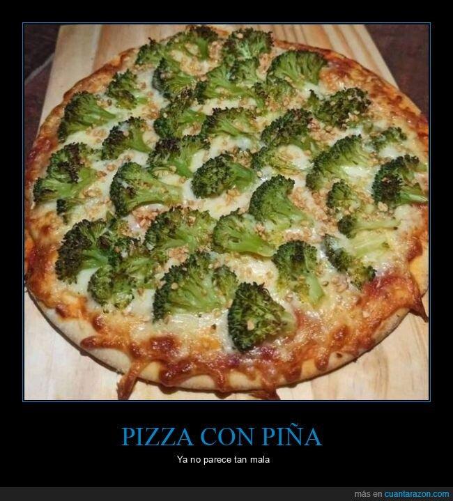 brócoli,pizza,wtf