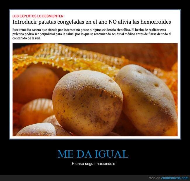 aliviar,hemorroides,patatas,wtf