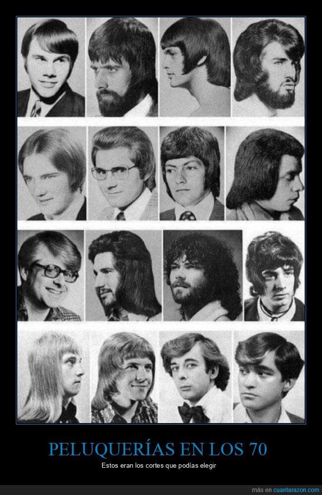 años 70,cortes de pelo,peinados,peluquerías
