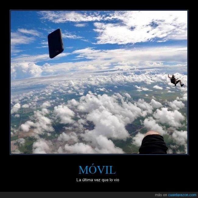 fails,móvil,paracaídas