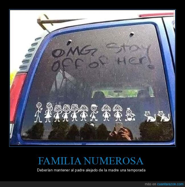 coches,familia,hijos,pegatina