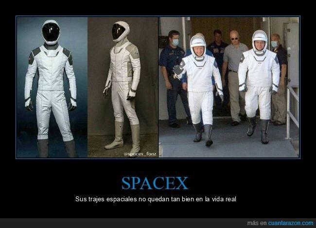 expectativas,realidad,spacex,trajes espaciales